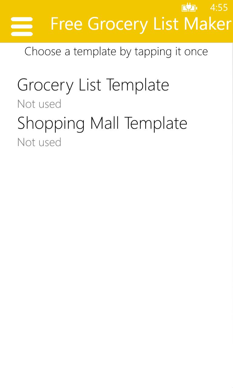 free grocery list maker free windows phone app market