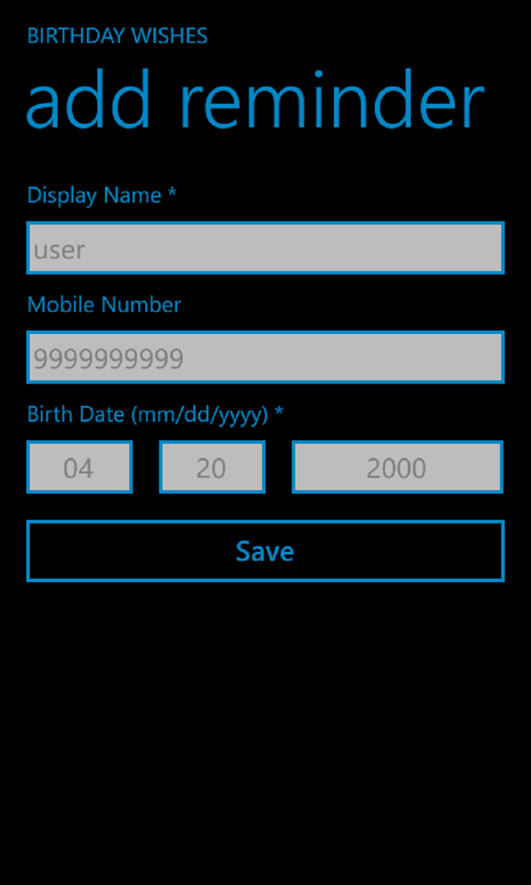 Birthday and Anniversary Wishes | FREE Windows Phone app market