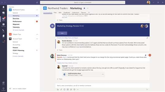 Microsoft Teams for Windows 10 S (Preview) screenshot 1
