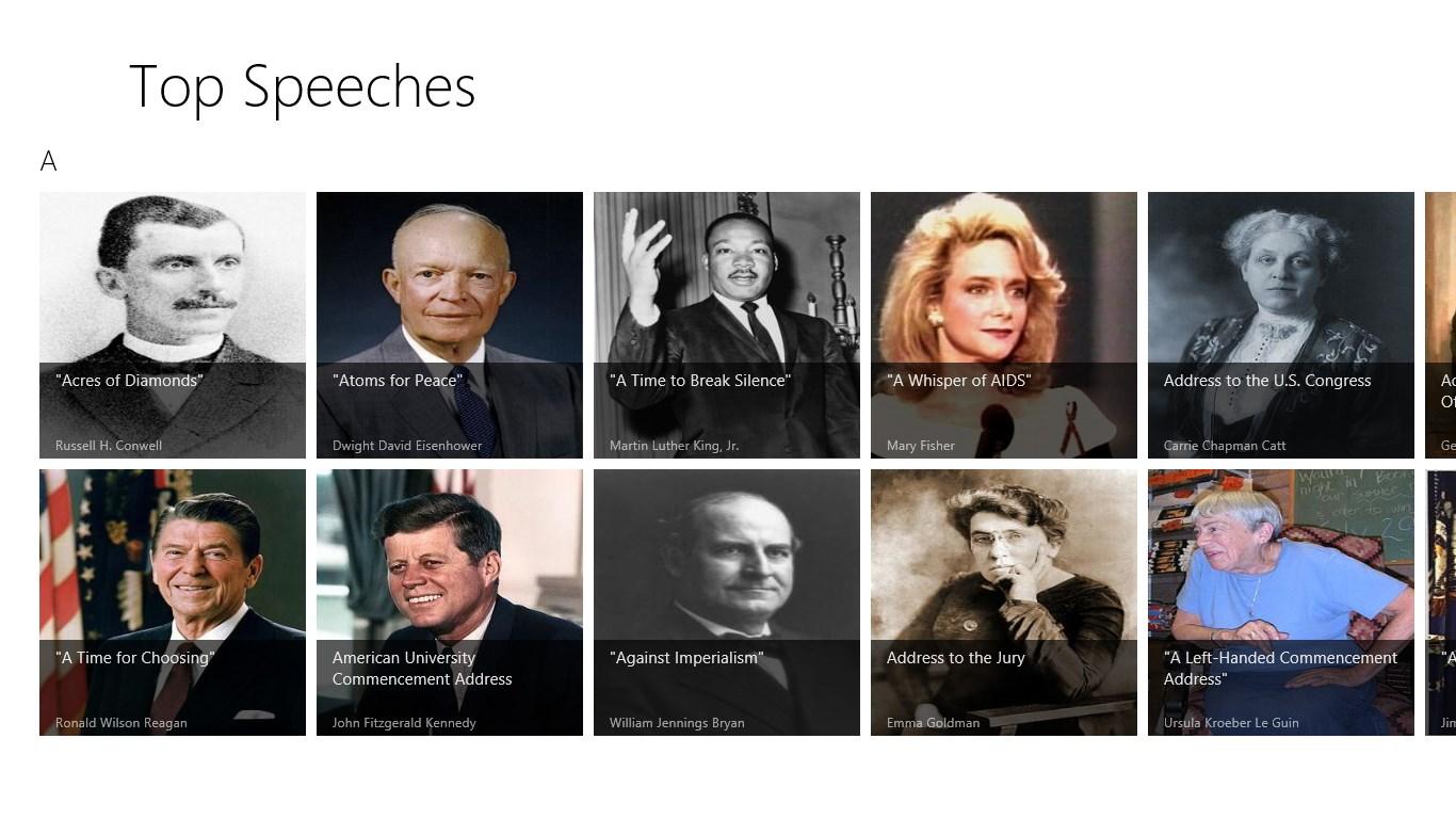 Top American Speeches