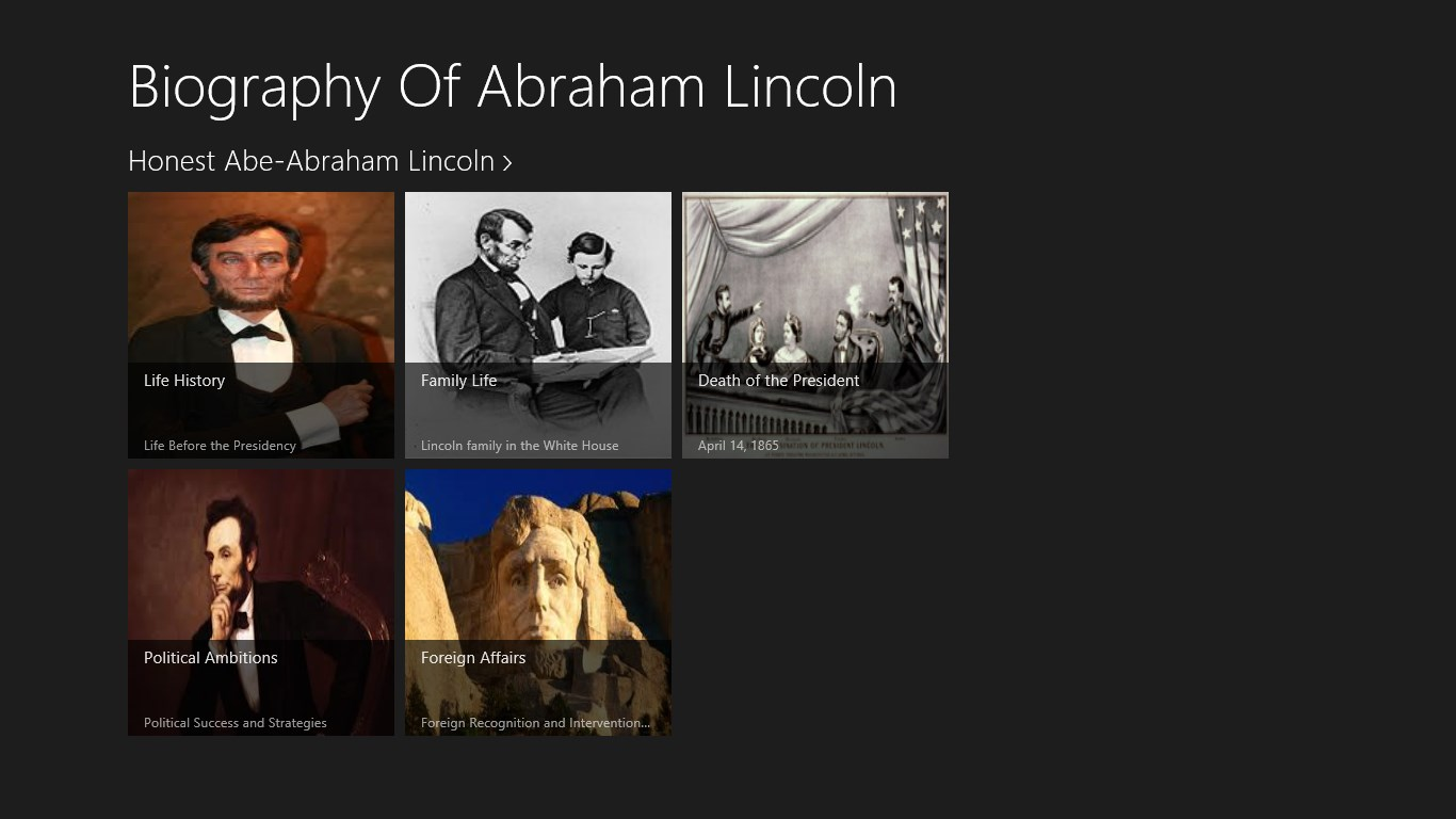 biography of abraham lincoln Abraham lincoln: a year by year outline of his life.