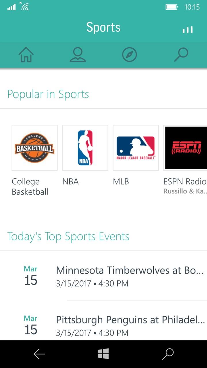 Live MLB NBA Music & News