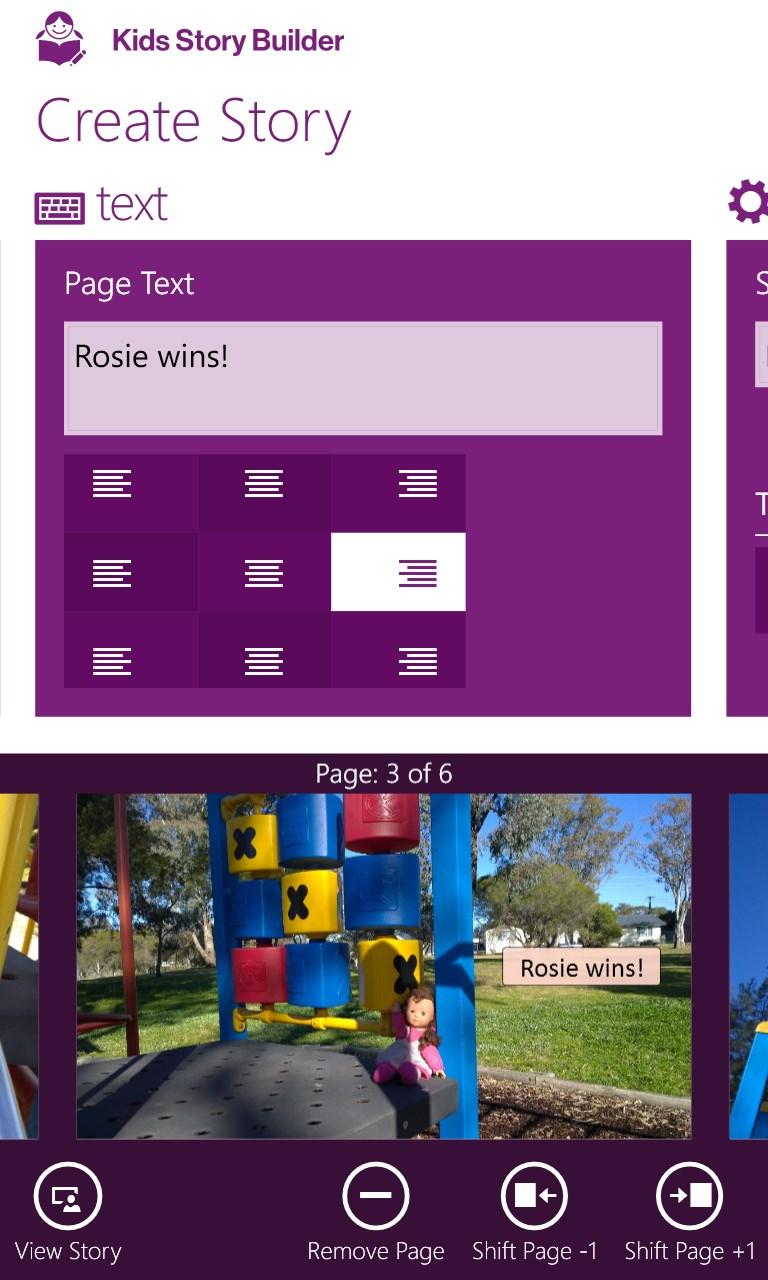 Kids story builder free windows phone app market for Home builder app