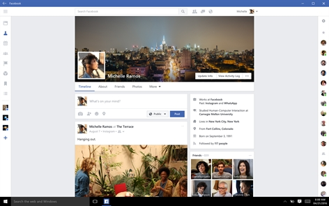 Facebook (Beta) Screenshot