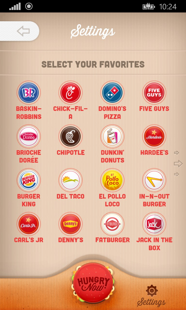 Hungry Now Fast-Food Locator