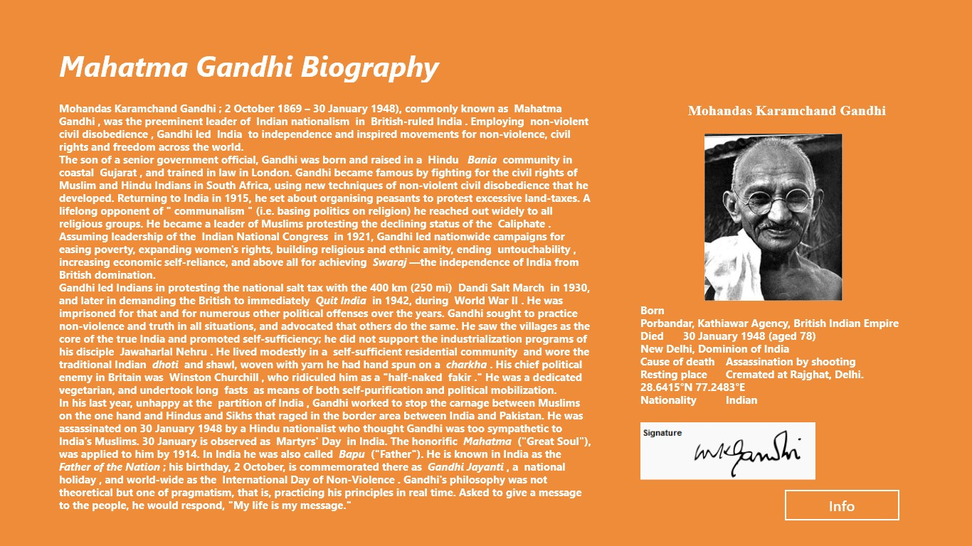 malayalam essay for mahatma gandhi Mohandas karamchand gandhi was born in the town of porbander in the state of what is now gujarat on 1869 october 2 more .
