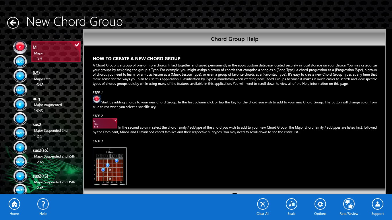 Guitar Chord Groups For Windows 10