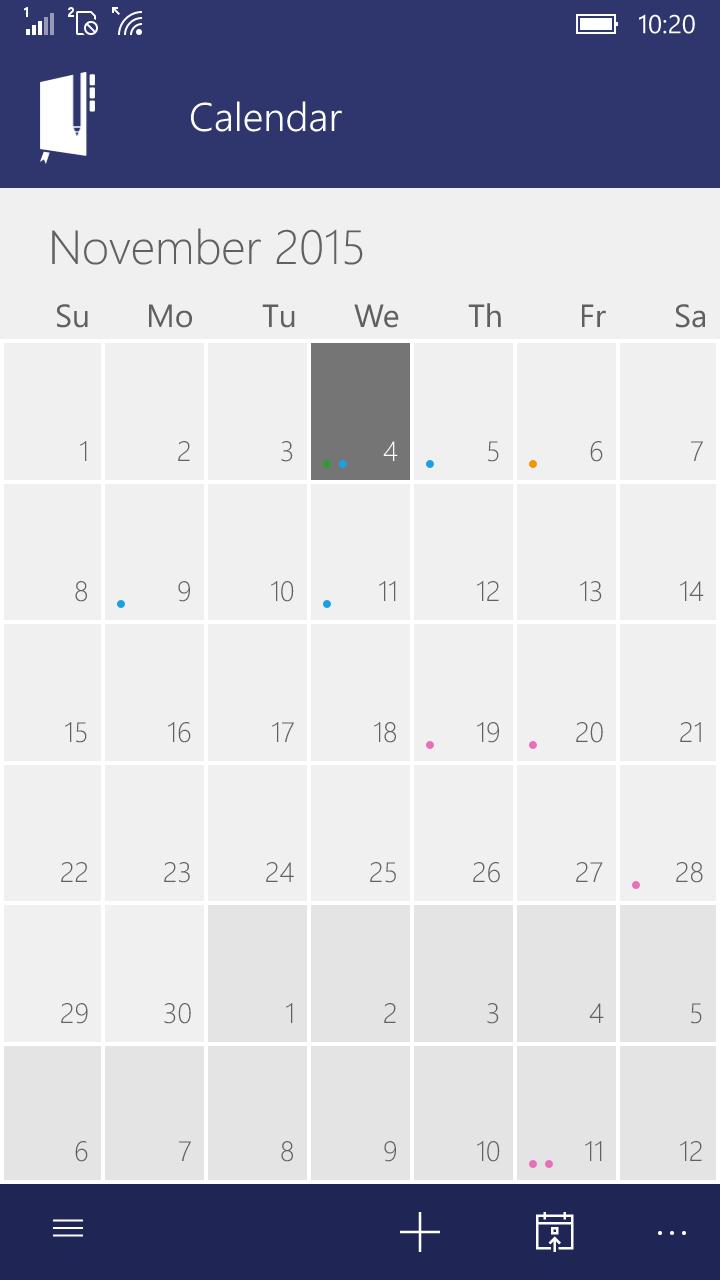 Calendar Planner In Windows : Power planner free windows phone app market