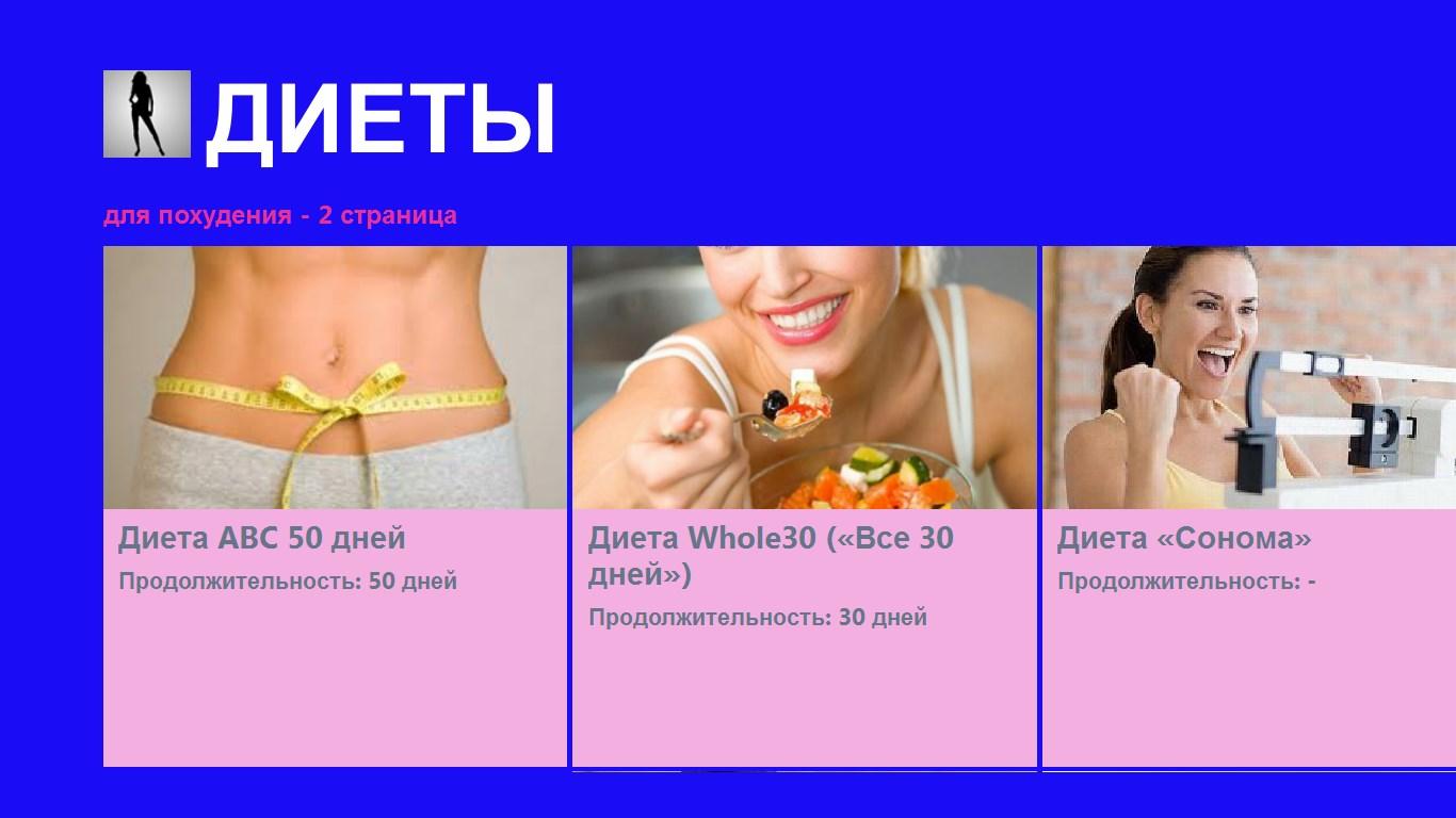 Меню самая эффективная диета для похудения