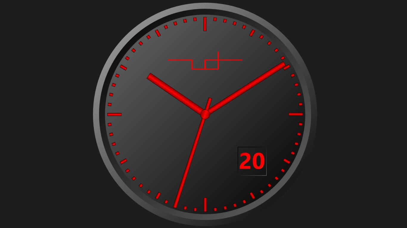 Desktop analog clock. LITERATUREMINI.ML