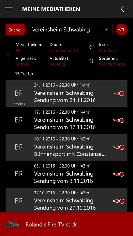 Meine Mediatheken Screenshot