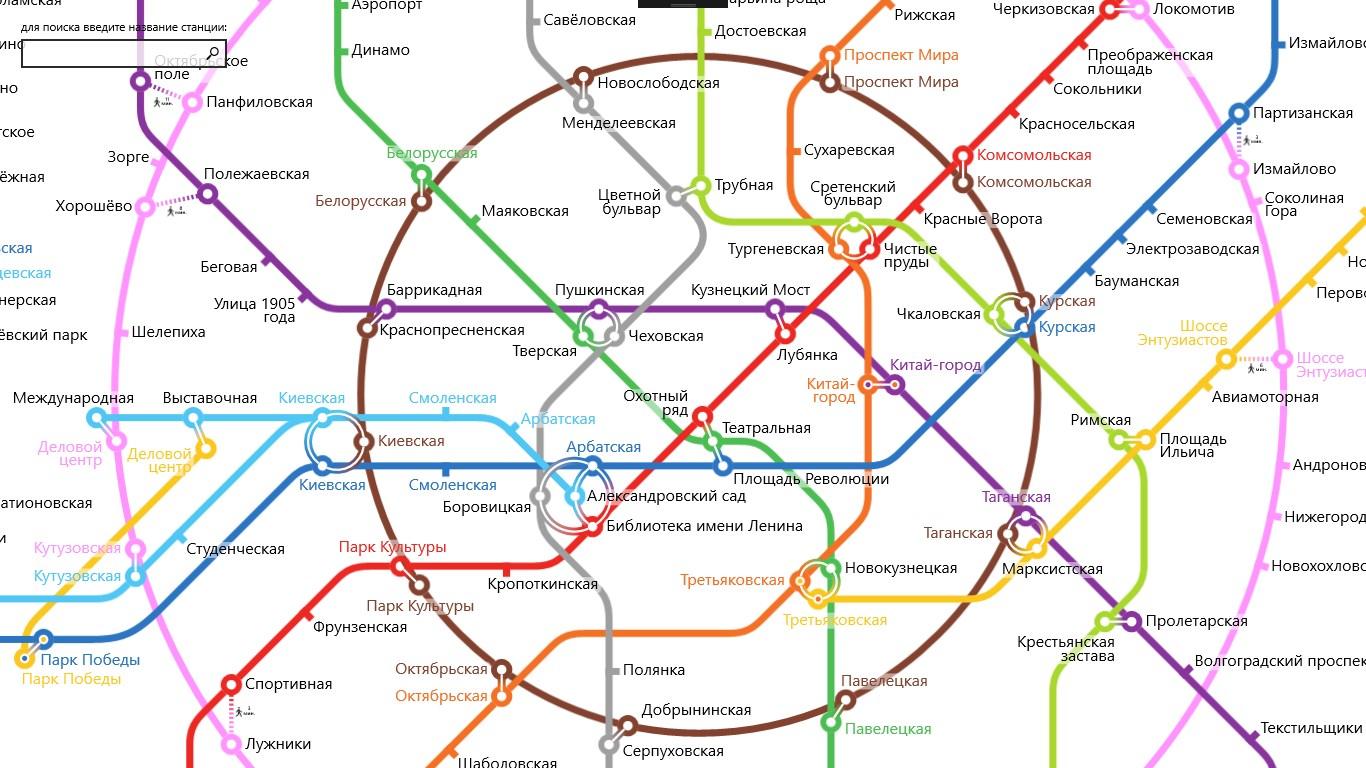 Схема выходов метро парк культуры кольцевая