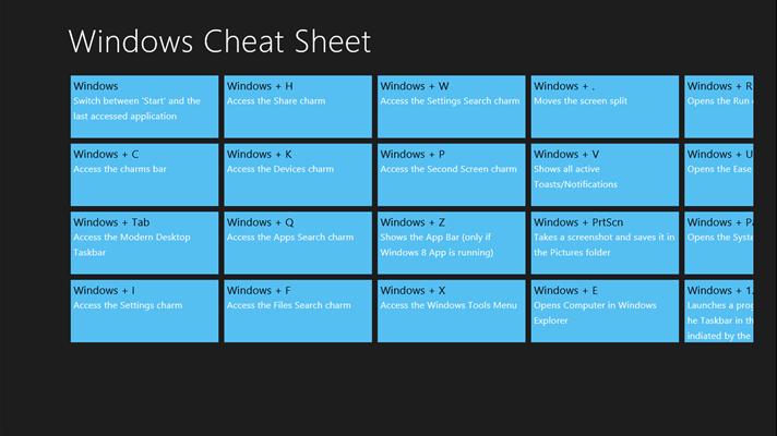 Windows Cheat S... W 9 Updated 2016