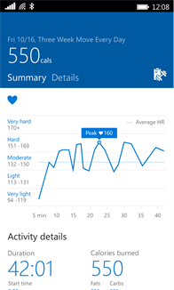Microsoft Health Screenshot