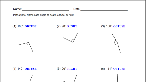 Naming Angles Worksheet for Windows 10 free download   TopWinData.com
