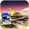 Heavy Machinery Trailer Truck Transport Hill Climb