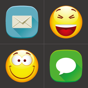 emoji keys chat - sms mail emoti emoticons smile