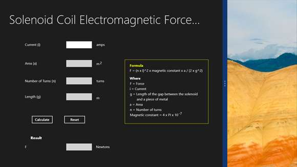 Solenoid Coil Electromagnetic Force Calculator For Windows