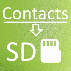 Contacts To SD