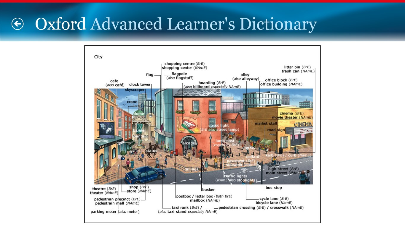 Oxford Advanced Learner's Dictionary, 8th edition | FREE Windows Phone app market