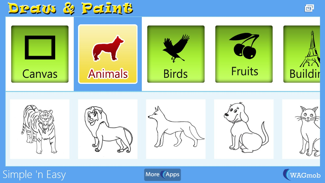 Draw Paint For Kids By Wagmob Free Windows Phone App