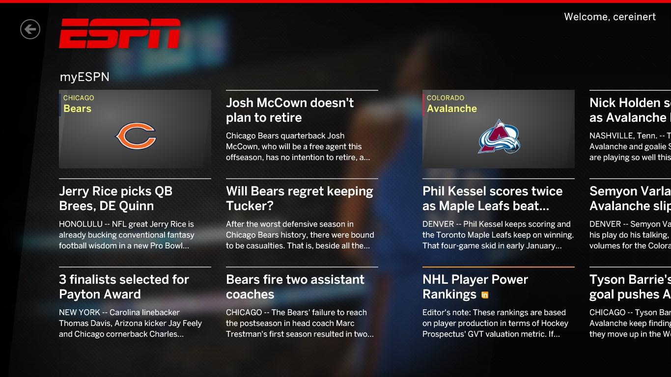 The ESPN App