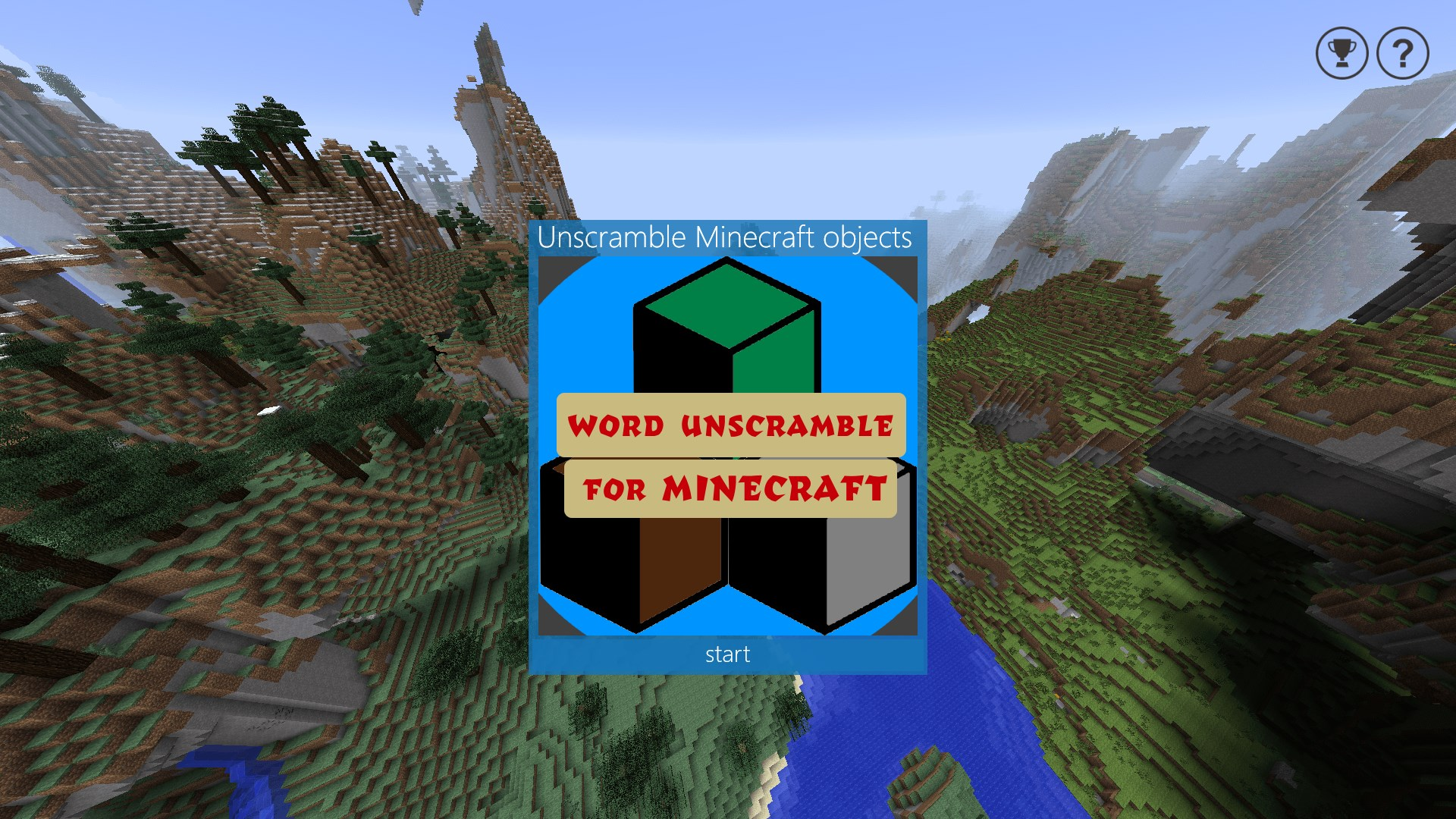 Word Unscramble for Minecraft for Windows 10