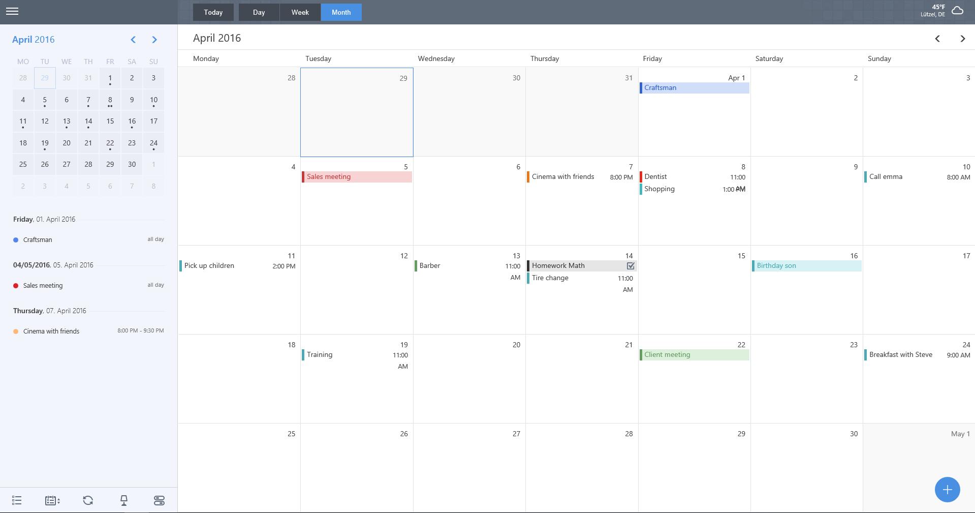 miraCal - A better calendar for Google