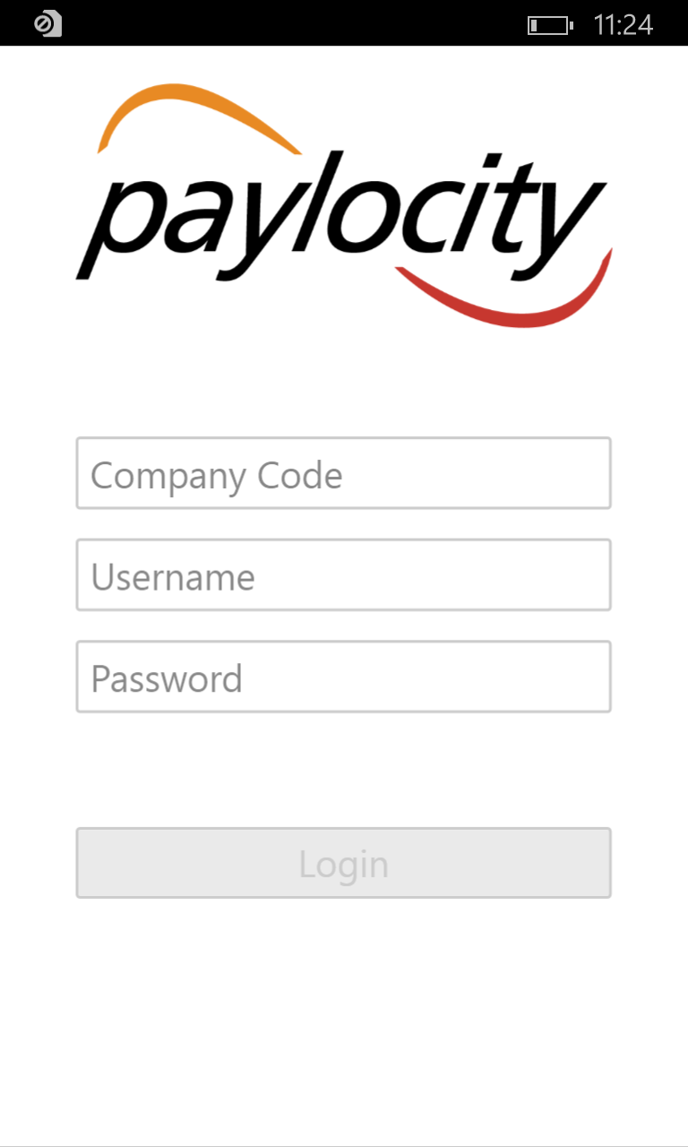Paylocity Mobile For Windows 10 Mobile