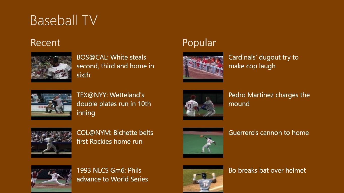 Baseball Tv For Windows 10 Free Download On Windows 10 App Store