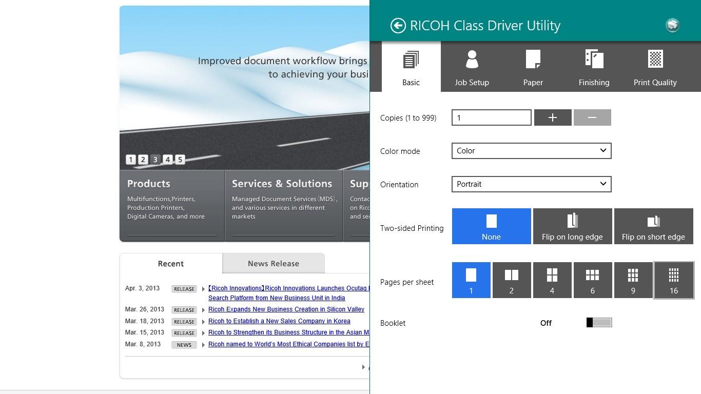 aficio mp 2550 driver windows 7