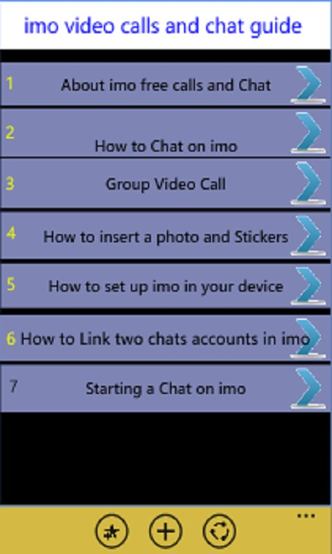 Imo Free Video Calls & Chat Guide | FREE Windows Phone app market
