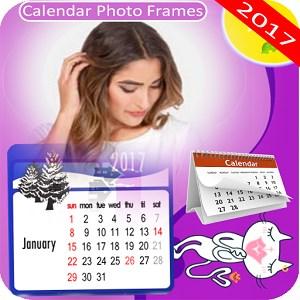 Calendar frame photo collage