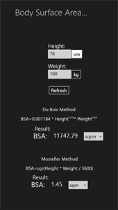 Body Surface Area Calculator for Windows 10 free download | TopWinData ...
