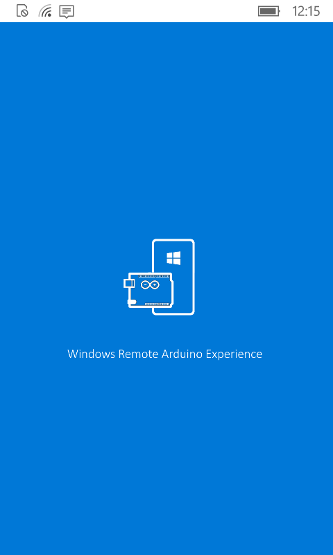 Windows remote arduino experience for