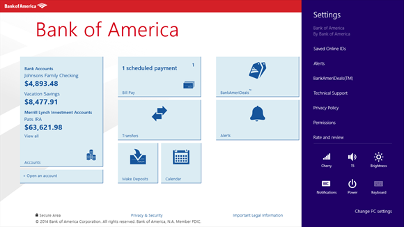 Bank of America screenshot 6