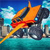 Flying Monster Truck Simulator : Real Crazy Pilot