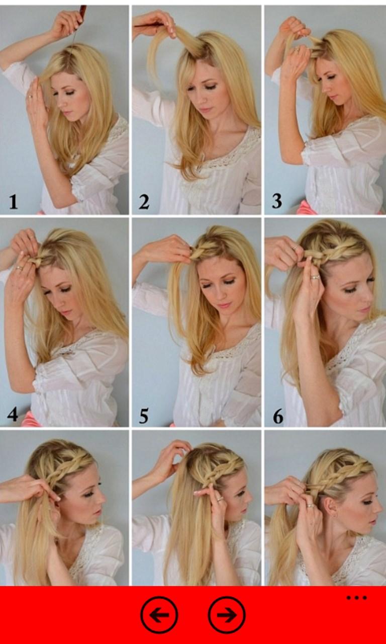 Как плести волосы средний длины