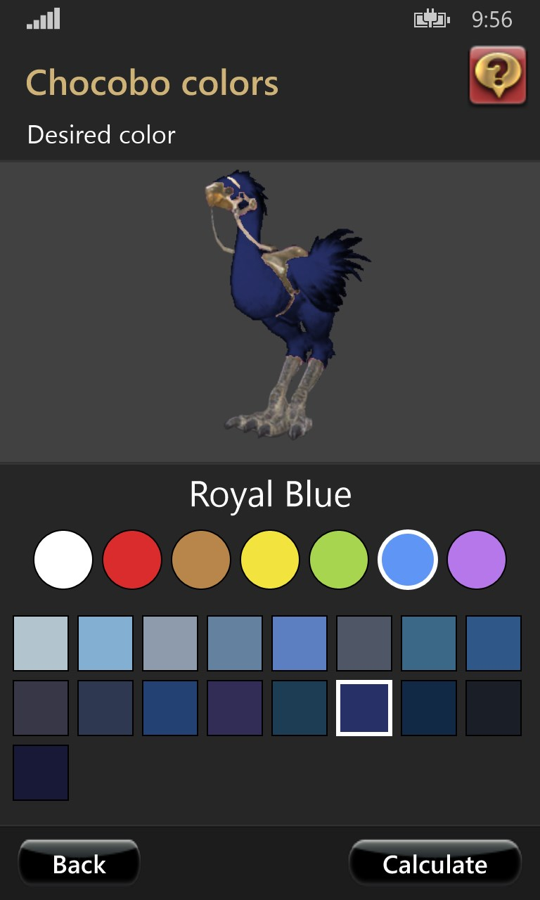 Ffxiv Chocobo Coloring Guide