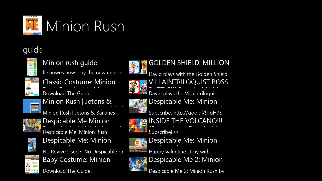 guide for minion rush:despicable me | FREE Windows Phone app