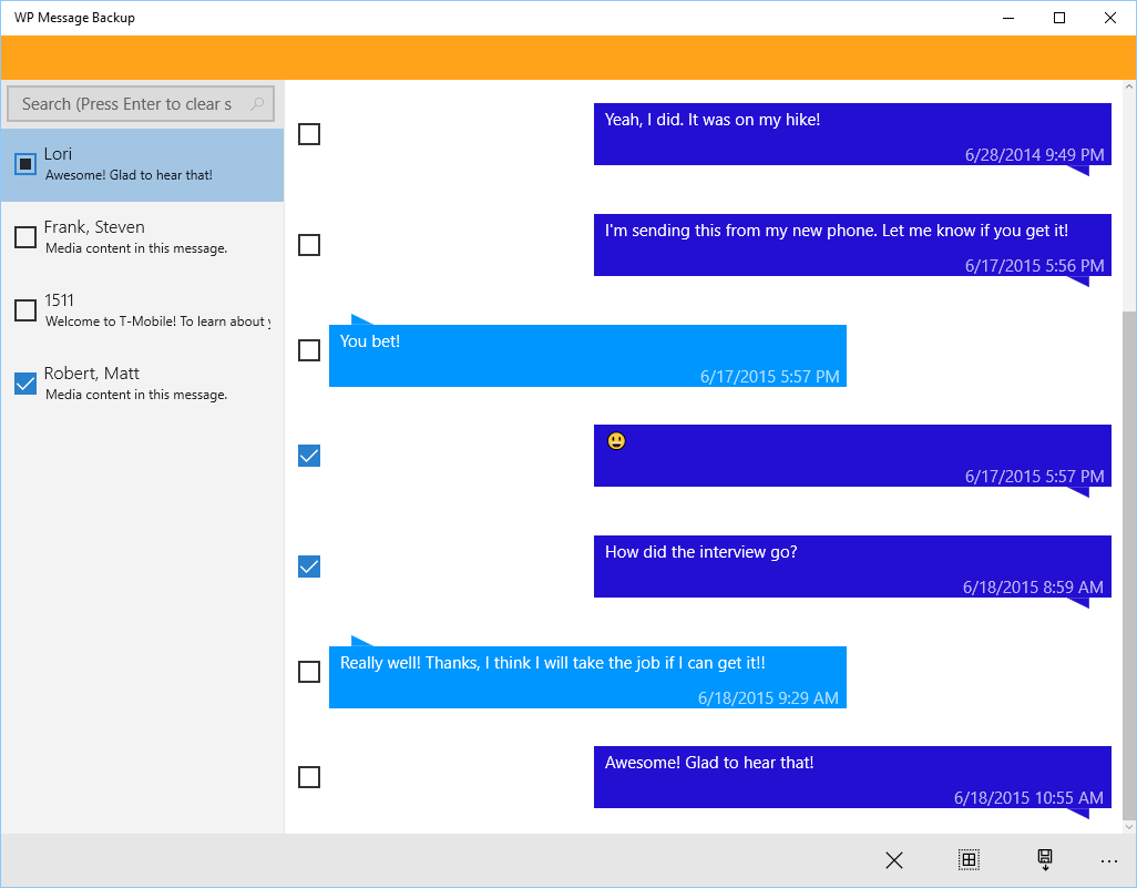 how to get messages from phone to windows 10