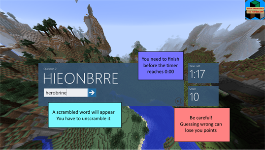 Word unscramble for minecraft for windows 10 pc free for Window unscramble