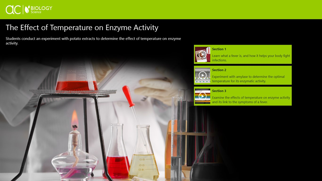 affect of temp on enzyme activity