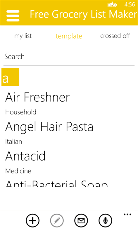 get free grocery list maker microsoft store