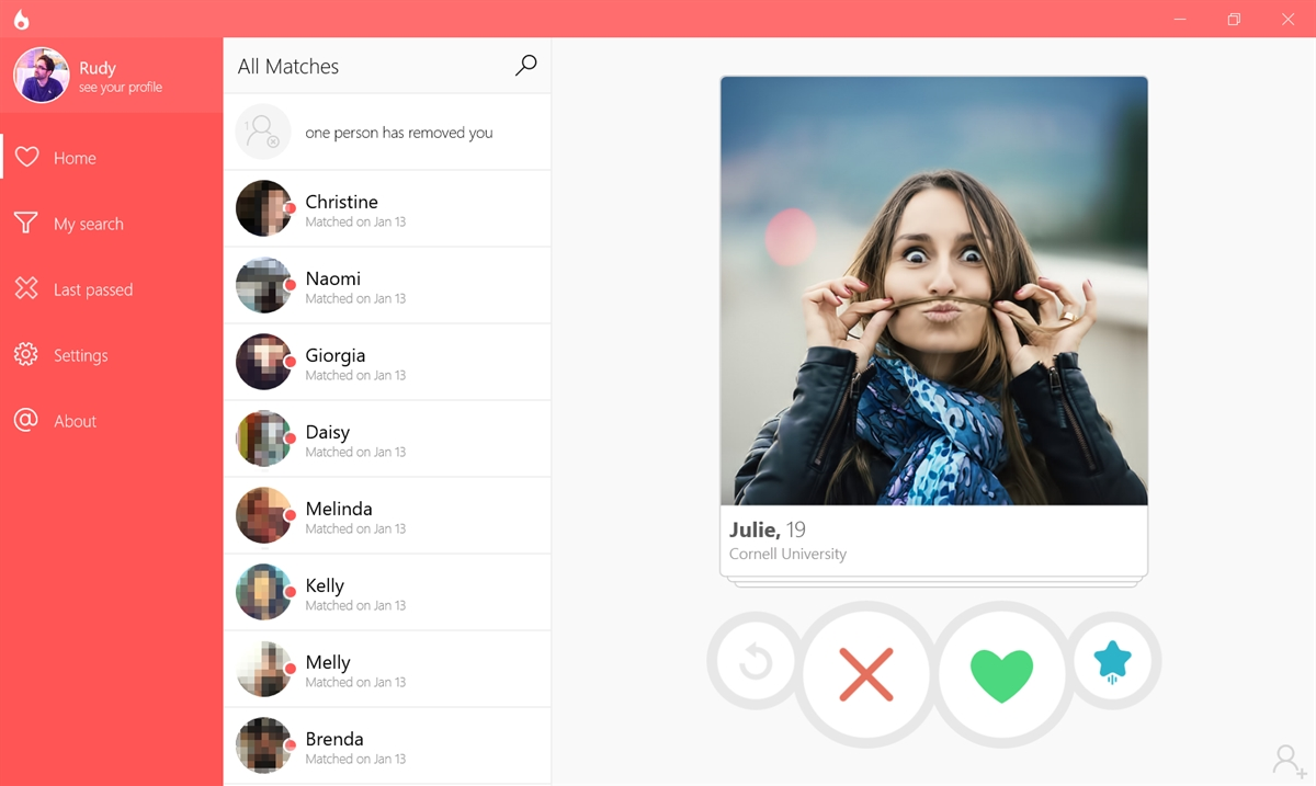 Tinder app 6tin for Windows 10 gets GIF support | On MSFT