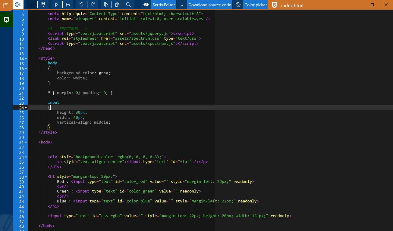 The HTML Editor