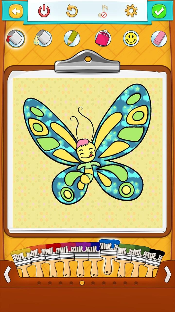 Бабочки раскраски играть