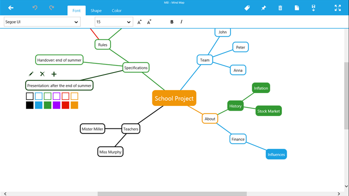Screenshot Another Mind Map While Editing
