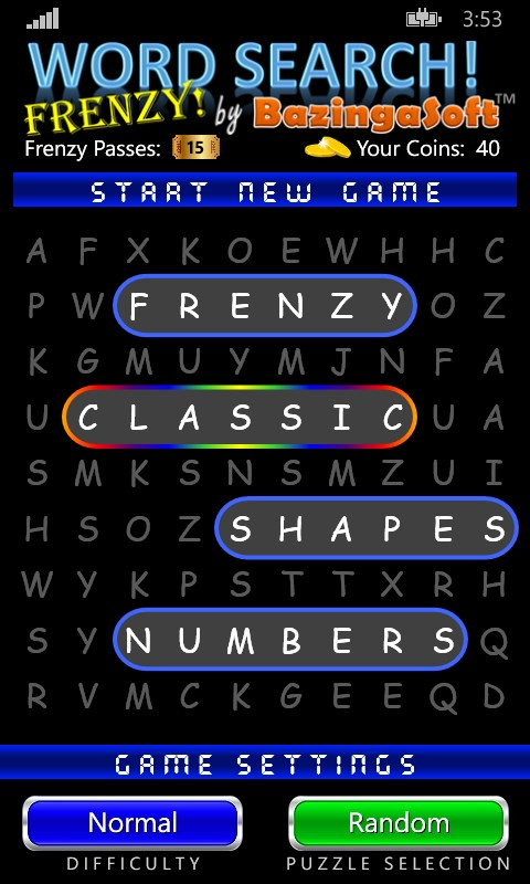 Word Search Frenzy