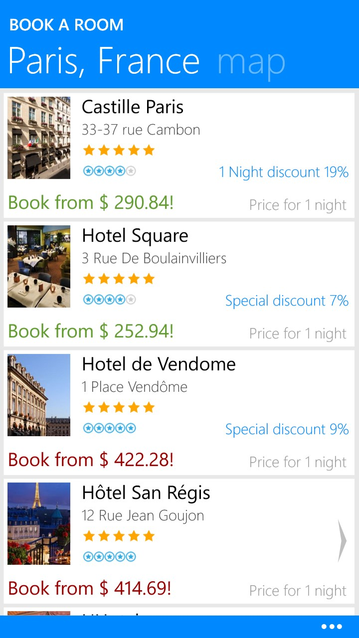 Book a room hotel booking reservations for windows 10 for Booking hotel